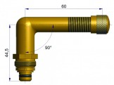 Вентиль длина 60 мм. R-0822-1