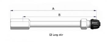 Прямой никелированный жесткий удлинитель  S-4577-2
